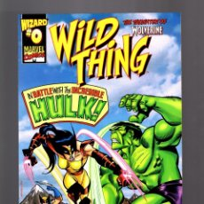 Cómics: WILD THING WOLVERINE'S DAUGHTER 0 - MARVEL 1999 VFN WIZARD SPECIAL EDITION / VS HULK. Lote 182672888