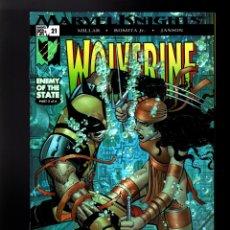 Cómics: WOLVERINE 21 - MARVEL 2005 VFN / MILLAR & ROMITA JR / ENEMY OF THE STATE / ELEKTRA. Lote 182781363