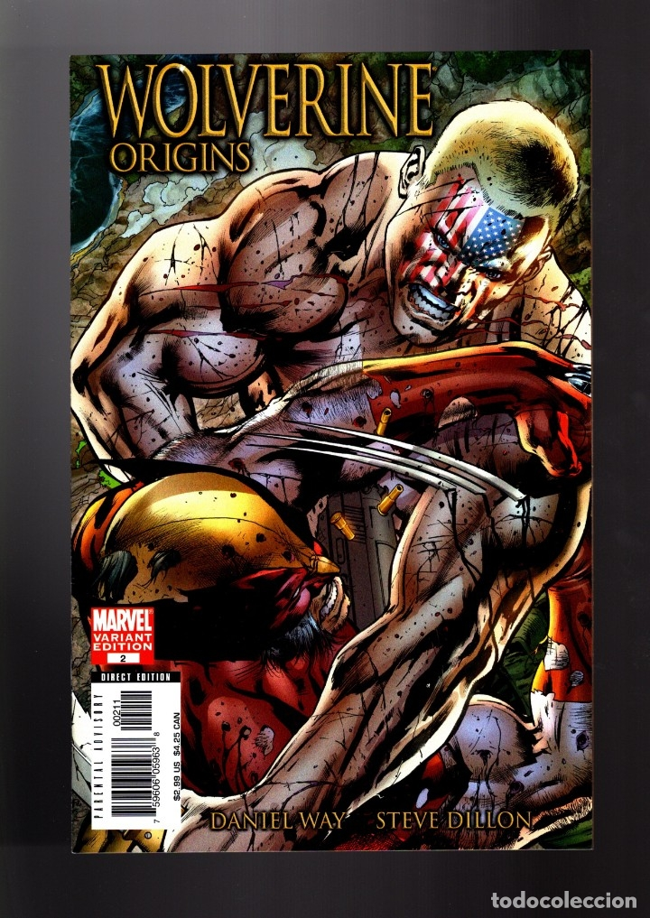 WOLVERINE ORIGINS 2 - MARVEL 2006 VFN/NM VARIANT COVER / WAY & DILLON (Tebeos y Comics - Comics Lengua Extranjera - Comics USA)