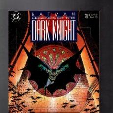 Cómics: BATMAN LEGENDS OF THE DARK KNIGHT 6 - DC 1990 VFN / GOTHIC / GRANT MORRISON & KLAUS JANSON. Lote 183258188