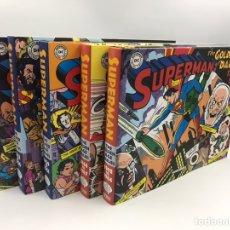 Cómics: THE SILVER AGE DAILIES SUPERMAN 5 TOMOS TAPA DURA. Lote 183748593