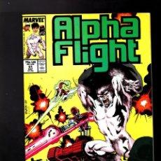 Cómics: ALPHA FLIGHT 51 - MARVEL 1987 FN/VFN / PRIMER COMIC DE JIM LEE EN MARVEL !. Lote 184473650