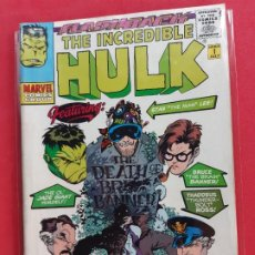 Cómics: THE INCREDIBLE HULK-MARVEL COMICS GROUP-DIFICIL-. Lote 184773238