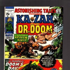 Cómics: ASTONISHING TALES 1 - MARVEL 1970 VFN / KA-ZAR DE STAN LEE Y JACK KIRBY / DOCTOR DOOM. Lote 188715260