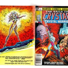 Cómics: CRYSTAR 1 - MARVEL 1983 VFN/NM WRAPAROUND COVER / MARY JO DUFFY & BRET BLEVINS. Lote 188792143