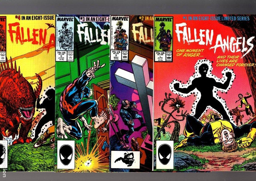 FALLEN ANGELS 1 2 3 4 5 6 7 8 COMPLETA - MARVEL 1987 VFN / NEW MUTANTS (Tebeos y Comics - Comics Lengua Extranjera - Comics USA)