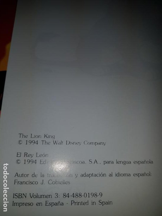 Cómics: COMIC/CUENTO-EL REY LEÓN-DISNEY-BUEN ESTADO GENERAL-VER FOTOS - Foto 6 - 190035546