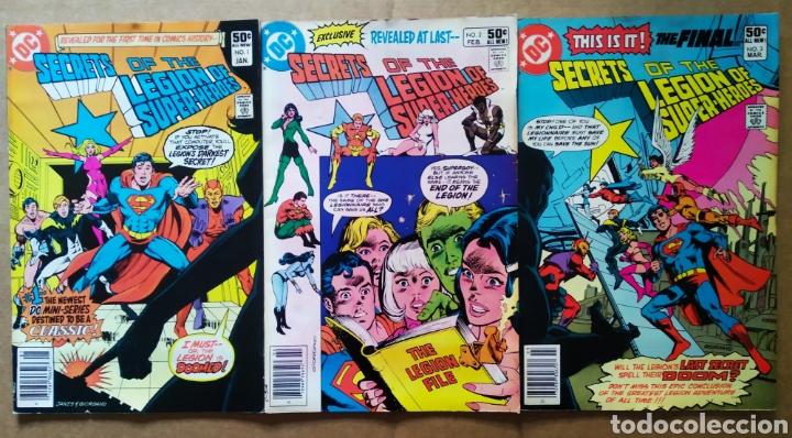 LOTE SECRETS OF THE LEGION OF SUPER-HEROES: NÚMEROS 1-2-3 (DC, 1981). ¡ÚNICOS EN TODOCOLECCIÓN! (Tebeos y Comics - Comics Lengua Extranjera - Comics USA)