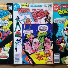 Cómics: LOTE SECRETS OF THE LEGION OF SUPER-HEROES: NÚMEROS 1-2-3 (DC, 1981). ¡ÚNICOS EN TODOCOLECCIÓN!. Lote 190413160