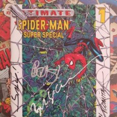 Cómics: ULTIMATE SPIDERMAN SUPER-SPECIAL FIRMADO!!! 6 AUTORES! ROMITA SIENKIEWITCZ BENDIS MALEV. Lote 190438053