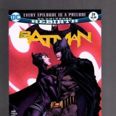 Cómics: BATMAN 24 - DC REBIRTH 2017 VFN/NM / TOM KING / BATMAN PROPOSES TO CATWOMAN !. Lote 191881642