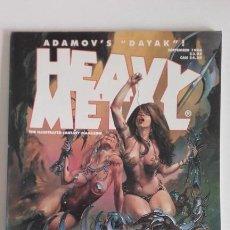 Cómics: HEAVY METAL MATURE ILLUSTRATED FANTASY MAGAZINE. SEPTEMBER 1994. Lote 192315887