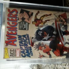 Cómics: THE AVENGERS N-4 WIZARD ACE EDITION PGX 9,8. Lote 193751036
