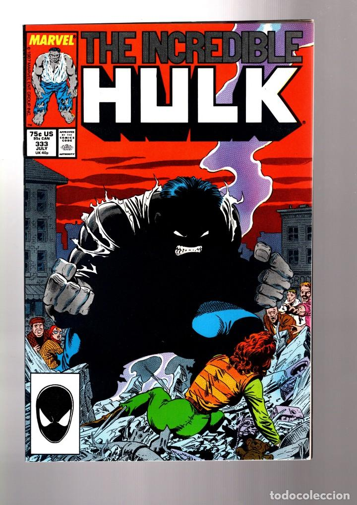INCREDIBLE HULK 333 - MARVEL 1987 VFN / PETER DAVID & TODD MC FARLANE (Tebeos y Comics - Comics Lengua Extranjera - Comics USA)