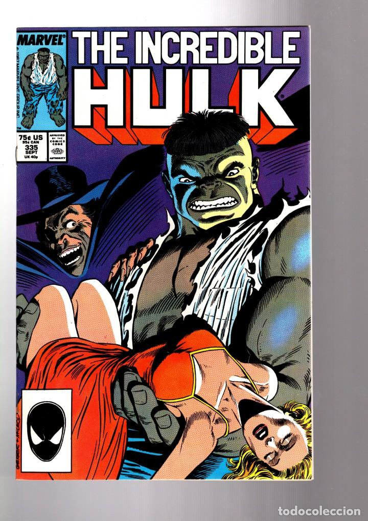 INCREDIBLE HULK 335 - MARVEL 1987 VFN / PETER DAVID (Tebeos y Comics - Comics Lengua Extranjera - Comics USA)