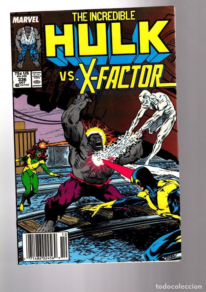 INCREDIBLE HULK 336 - MARVEL 1987 FN/VFN / PETER DAVID & TODD MCFARLANE / VS X-FACTOR ! (Tebeos y Comics - Comics Lengua Extranjera - Comics USA)