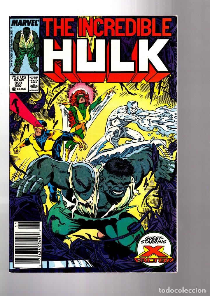 INCREDIBLE HULK 337 - MARVEL 1987 VFN+ / PETER DAVID & TODD MCFARLANE / X-FACTOR ! (Tebeos y Comics - Comics Lengua Extranjera - Comics USA)