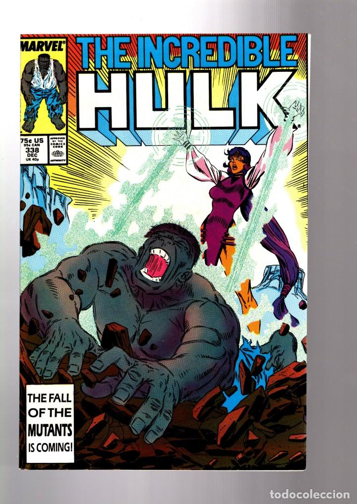 INCREDIBLE HULK 338 - MARVEL 1987 VFN / PETER DAVID & TODD MCFARLANE (Tebeos y Comics - Comics Lengua Extranjera - Comics USA)