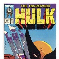 Cómics: INCREDIBLE HULK 340 - MARVEL 1988 VFN- / PETER DAVID & TODD MCFARLANE / VS WOLVERINE. Lote 194209591