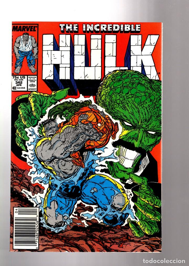INCREDIBLE HULK 342 - MARVEL 1988 VFN / PETER DAVID & TODD MCFARLANE (Tebeos y Comics - Comics Lengua Extranjera - Comics USA)