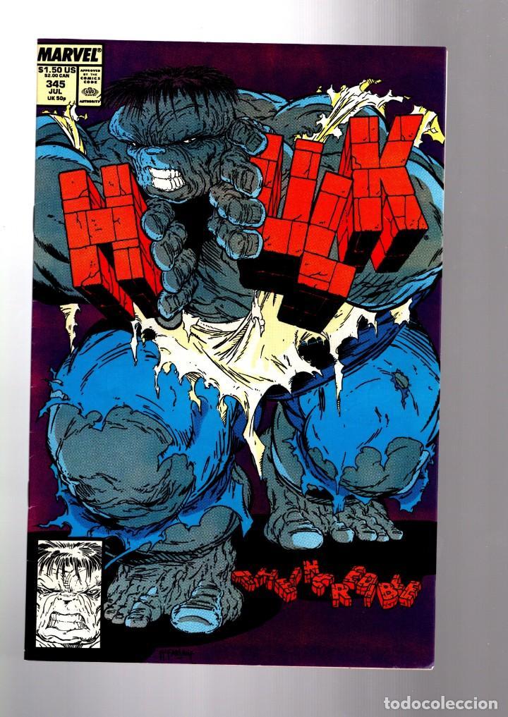 INCREDIBLE HULK 345 - MARVEL 1988 VFN GIANT SIZE / PETER DAVID & TODD MCFARLANE (Tebeos y Comics - Comics Lengua Extranjera - Comics USA)