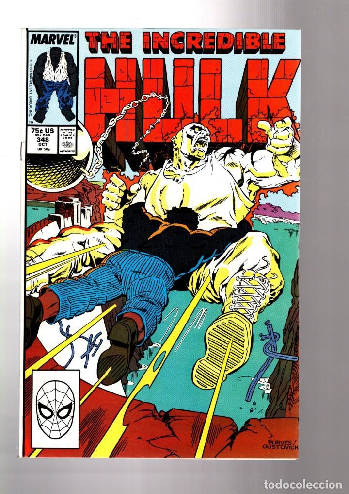 INCREDIBLE HULK 348 - MARVEL 1988 VFN/NM / PETER DAVID (Tebeos y Comics - Comics Lengua Extranjera - Comics USA)