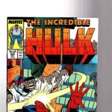 Cómics: INCREDIBLE HULK 349 - MARVEL 1988 VFN+ / PETER DAVID / MR FIXIT VS AMAZING SPIDER-MAN. Lote 194211948