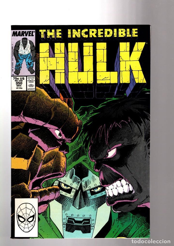 INCREDIBLE HULK 350 - MARVEL 1988 VFN+ / PETER DAVID / MR FIXIT VS THE THING (Tebeos y Comics - Comics Lengua Extranjera - Comics USA)