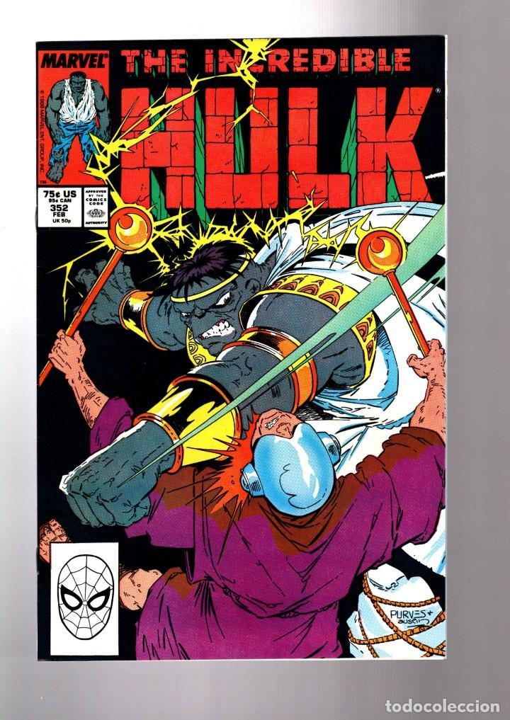 INCREDIBLE HULK 352 - MARVEL 1988 VFN / PETER DAVID (Tebeos y Comics - Comics Lengua Extranjera - Comics USA)