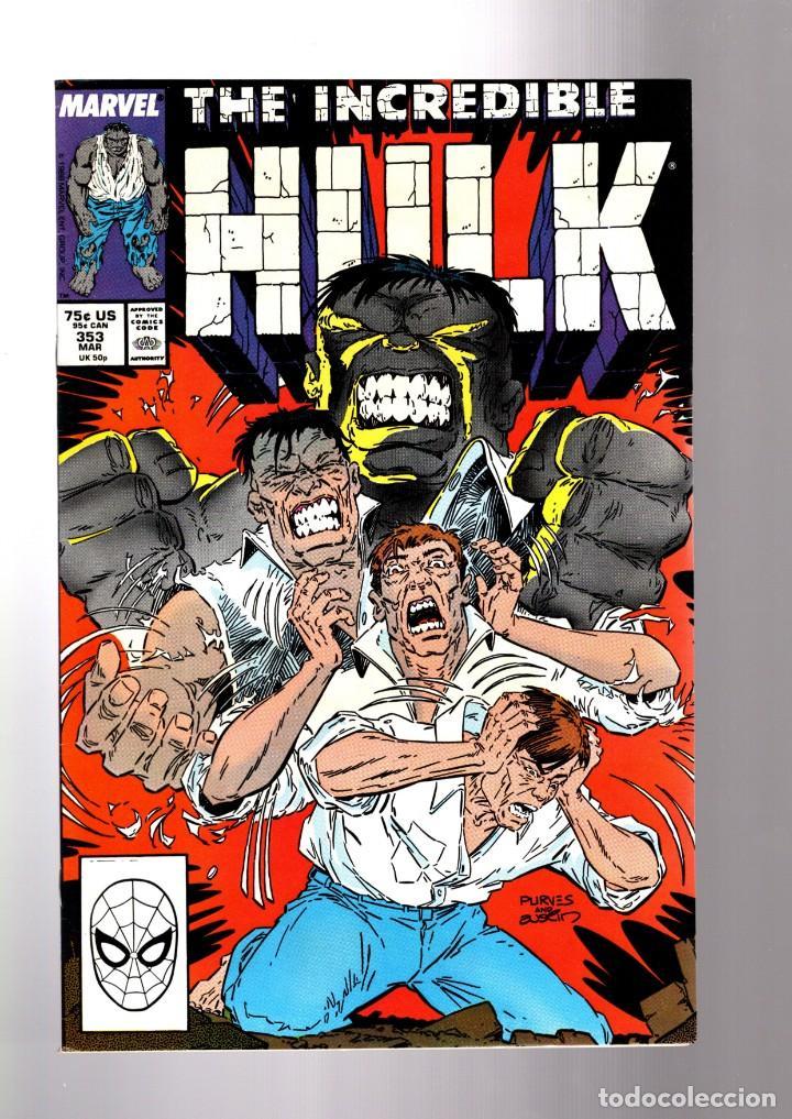 INCREDIBLE HULK 353 - MARVEL 1988 VFN+ / PETER DAVID (Tebeos y Comics - Comics Lengua Extranjera - Comics USA)