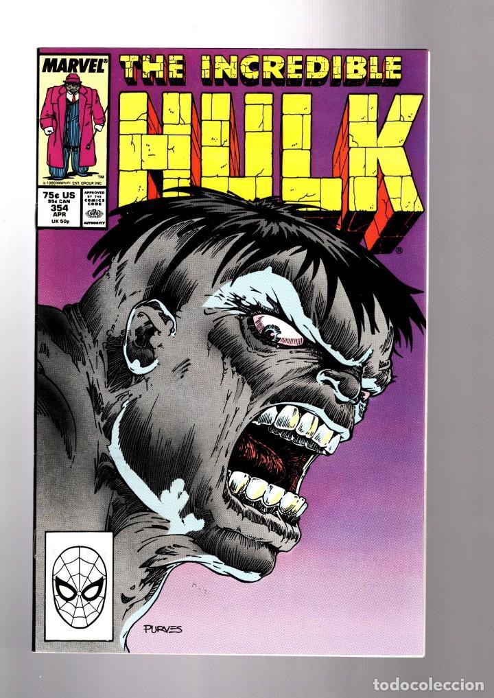 INCREDIBLE HULK 354 - MARVEL 1988 VFN+ / PETER DAVID (Tebeos y Comics - Comics Lengua Extranjera - Comics USA)