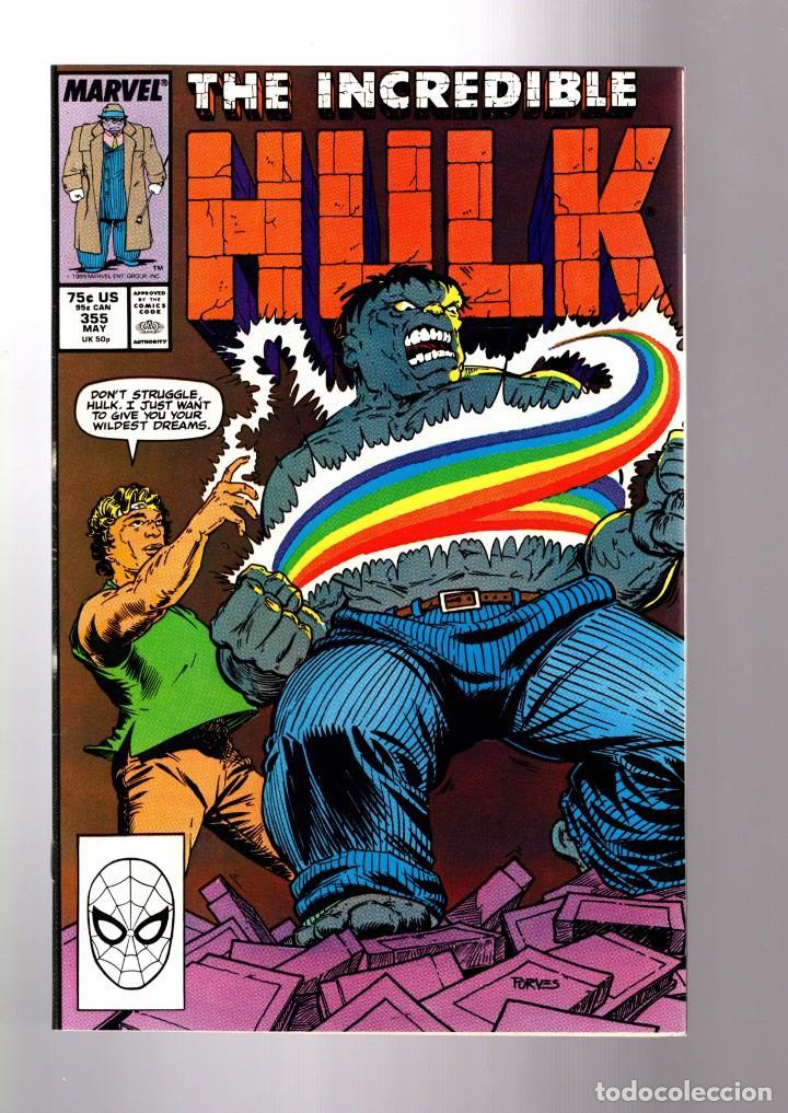 INCREDIBLE HULK 355 - MARVEL 1989 VFN / PETER DAVID (Tebeos y Comics - Comics Lengua Extranjera - Comics USA)