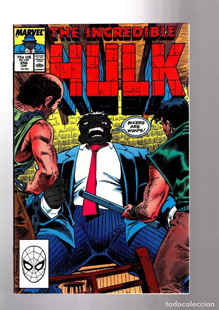 INCREDIBLE HULK 356 - MARVEL 1989 VFN / PETER DAVID (Tebeos y Comics - Comics Lengua Extranjera - Comics USA)
