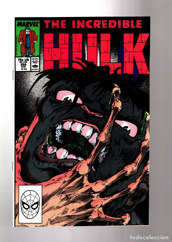 INCREDIBLE HULK 358 - MARVEL 1989 VFN+ / PETER DAVID (Tebeos y Comics - Comics Lengua Extranjera - Comics USA)