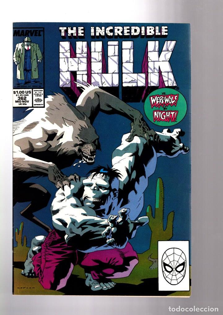 INCREDIBLE HULK 362 - MARVEL 1989 VFN / PETER DAVID / MR FIXIT VS WEREWOLF BY NIGHT (Tebeos y Comics - Comics Lengua Extranjera - Comics USA)
