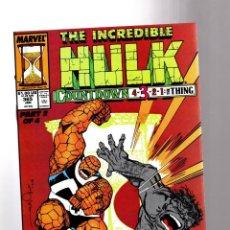 Cómics: INCREDIBLE HULK 365 - MARVEL 1990 VFN / PETER DAVID & JEFF PURVES / FANTASTIC FOUR. Lote 194236665