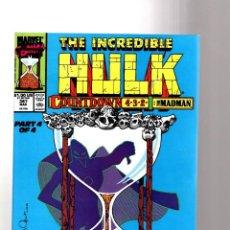 Cómics: INCREDIBLE HULK 367 - MARVEL 1990 VFN/NM / PETER DAVID / VS MADMAN / 1ST DALE KEOWN IN MARVEL. Lote 194237093