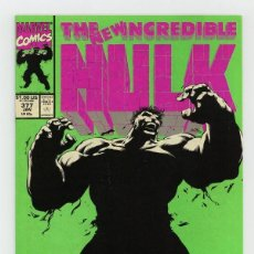 Cómics: INCREDIBLE HULK 377 - MARVEL 1991 VFN- / PETER DAVID / 1ST PROFESSOR HULK / 1ST EDITION. Lote 194238713