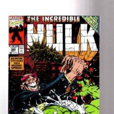 Cómics: INCREDIBLE HULK 385 - MARVEL 1991 FN/VFN / PETER DAVID / INFINITY GAUNTLET. Lote 194239396
