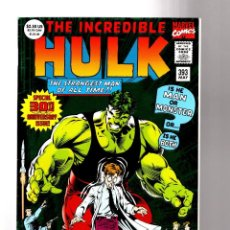 Cómics: INCREDIBLE HULK 393 - MARVEL 1992 VFN/NM / PETER DAVID / 30TH GIANT SIZE ANIVERSARY. Lote 194239516