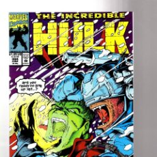 Cómics: INCREDIBLE HULK 394 - MARVEL 1992 VFN+ / PETER DAVID & ANDREW WILDMAN. Lote 194239680