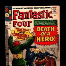 Cómics: FANTASTIC FOUR 32 - MARVEL 1964 VG / STAN LEE & JACK KIRBY / DEATH OF FRANKLIN STORM. Lote 194330241