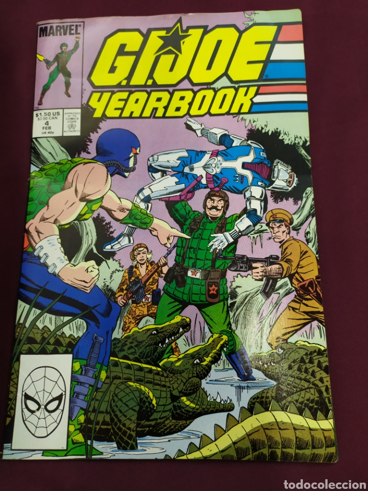 G.I.JOE YEARBOOK - MARVEL. VOL 1 ,4 (Tebeos y Comics - Comics Lengua Extranjera - Comics USA)