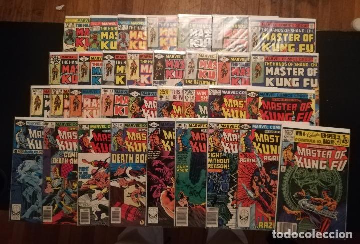 THE HANDS OF SHANG-CHI MASTER OF KUNG FU - LOTE DE 33 COMICS (Tebeos y Comics - Comics Lengua Extranjera - Comics USA)