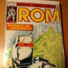 Cómics: COMIC USA-ROM #37-MARVEL 1982 -SAL BUSCEMA- VFN-BOLSA Y BACKBOARD. Lote 194934361