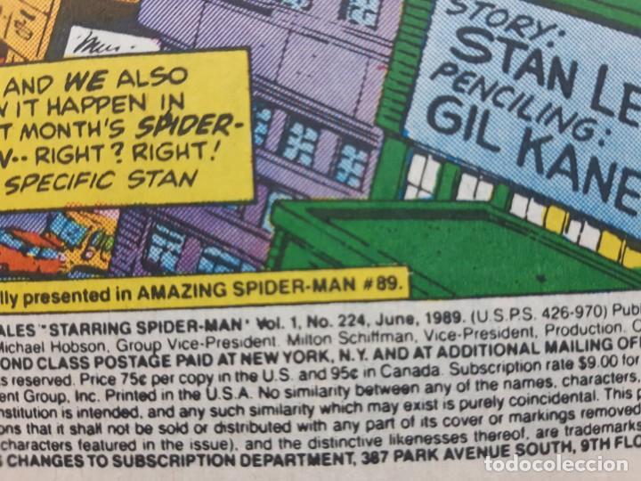 Cómics: CLASSIC SPIDERMAN Nº 224 DC 1989 INGLES IMPECABLE ESTADO VER FOTOS - Foto 3 - 194949031