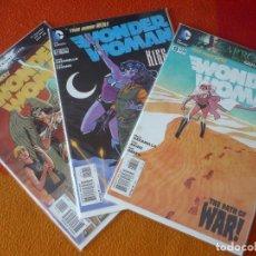 Cómics: WONDER WOMAN NºS 11, 12 Y 13 THE NEW 52 ( AZZARELLO ) ( EN INGLES ) ¡MUY BUEN ESTADO! DC USA 2012. Lote 194986315
