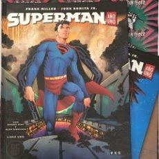 Cómics: SUPERMAN AÑO UNO FRANK MILLER BLACK LABEL LIBRO 01, 02 Y 03. Lote 195084996