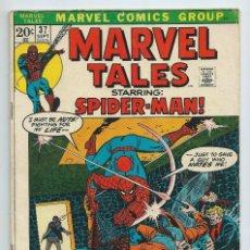 Cómics: MARVEL TALES Nº 37 (SEOT 72). ORIGINAL MARVEL. REEDICION AMAZING SPIDERMAN 52. Lote 195195796