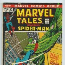 Cómics: MARVEL TALES Nº 34 (MAYO 72). ORIGINAL MARVEL. REEDICION AMAZING SPIDERMAN 48. Lote 195195925